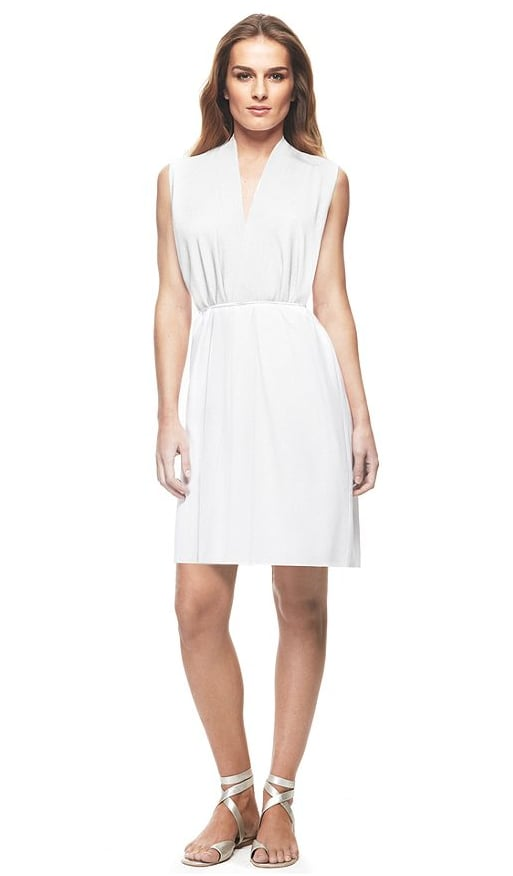 Let's be honest: what's a vacation without the essential LWD?  Francisco Costa by Calvin Klein Dress, Sleeveless Viscose Crepe Belted Keyhole ($165)