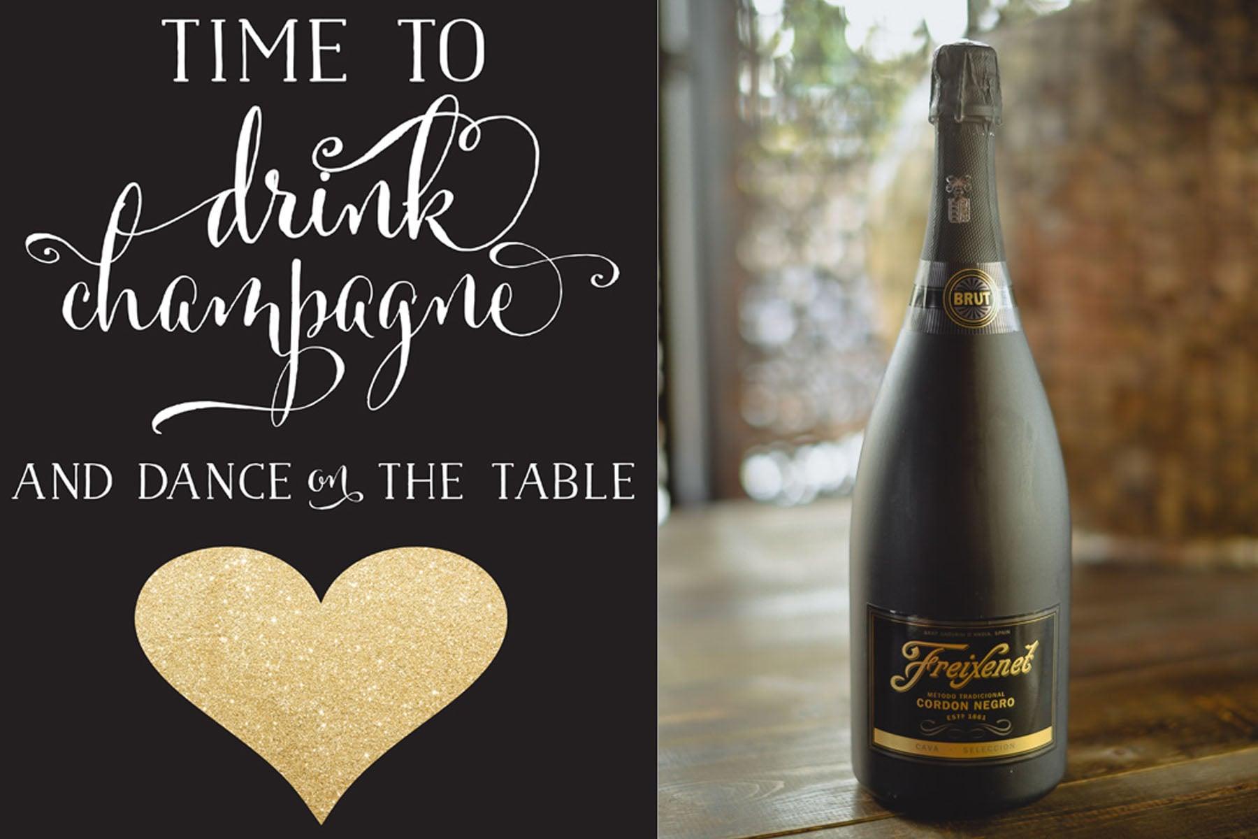 Free Champagne Printable