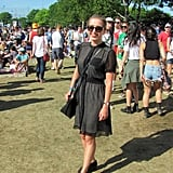 This festivalgoer proved that all black can still feel breezy come Summer.