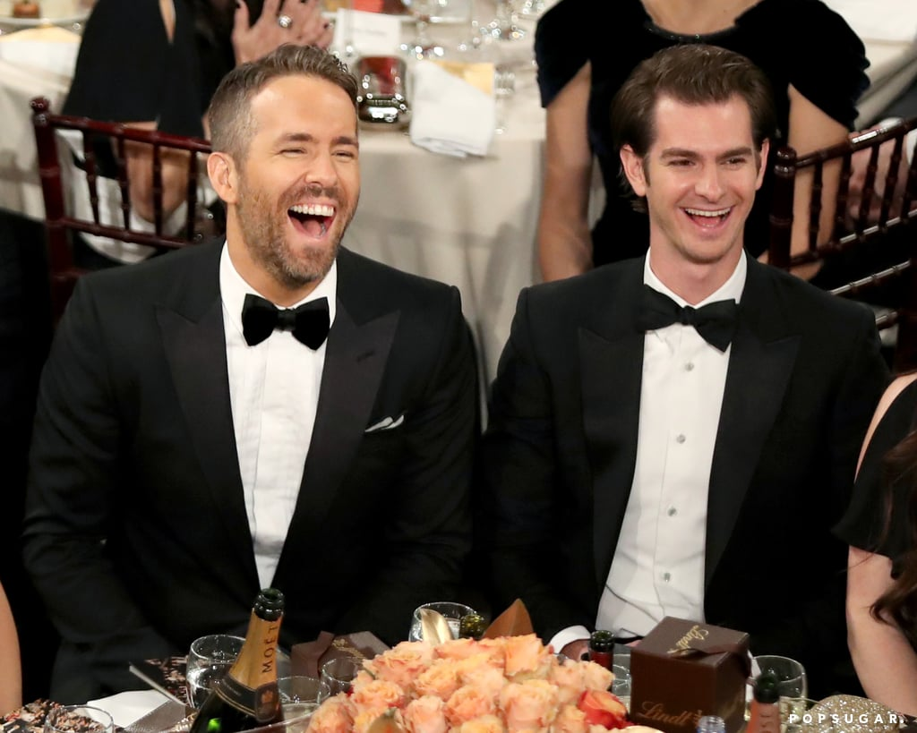 Ryan Reynolds and Andrew Garfield had way too much fun sitting next to each other.