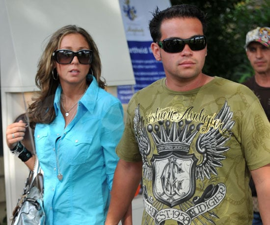 Slide Photo of Jon Gosslin and His Girlfriend Holding Hands in St. Tropez