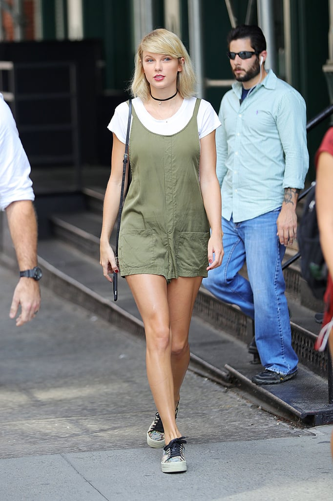 Taylor Swift's Green Bishop + Young Romper September 2016