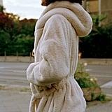 UO Faux Fur Hooded Robe Coat