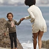 Halle Berry and Nahla Aubry Have a Sweet Beach Day