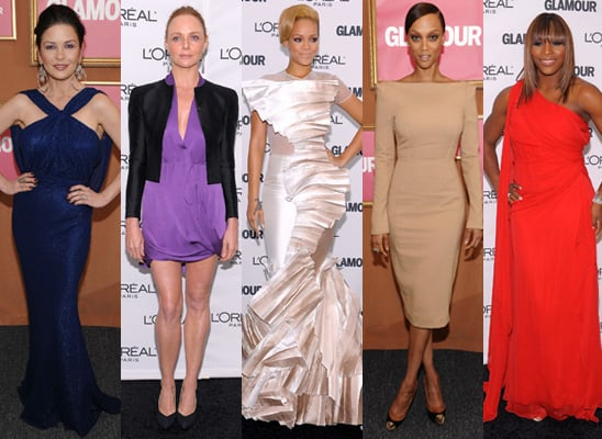 Photos of red carpet at 2009 Glamour Magazine Woman of the Year Awards in New York City