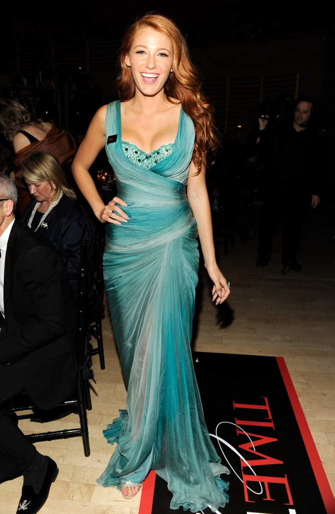 Wearing Zuhair Murad Couture to the 2011 Time 100 Gala.