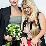 Jessica Simpson and Her Daughter With Princess Charlene