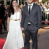 Seth Rogen and Lauren Miller held hands at the Toronto Film Festival.