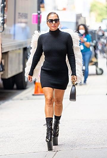 Lady Gaga Looks Like an Angel Wearing Lanvin Dress in NYC