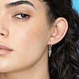 The Last Line Custom Gold Letter and Symbol Hoop Earring Charm