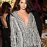 Kendall Jenner Sweater Dress at Cannes 2018