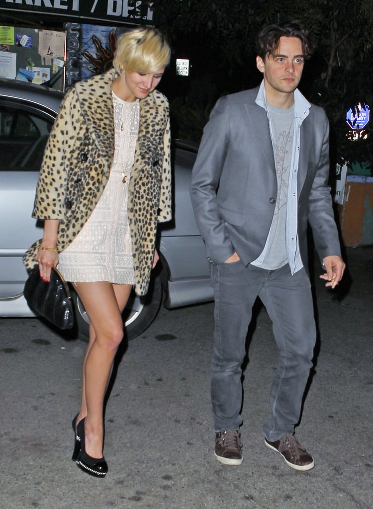 Ashlee Simpson was joined by a female friend and her boyfriend Vincent Piazza last night as she celebrated her 27th birthday with dinner at Pace in LA. The cozy Italian spot where they marked the occasion is also a favorite of Mary-Kate and Ashley Olsen. After the meal, Vincent affectionately put his arm around Ashlee as they waited for the valet. The couple is back in the states after vacationing in Cabo with her friends and family last week. Ashlee and Vincent shared some PDA in NYC over the Summer as they started their romance, but now that his work on Boardwalk Empire has wrapped for the season, they are spending a little time on the West Coast. Ashlee was by Vincent's side at the premiere of the series in September, and during her time in the Big Apple, she met Vincent's parents. The couple also celebrated Eric Johnson's 32nd birthday with Jessica Simpson in the city.