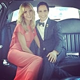 Heidi Klum took a limo ride to the Emmys with fashion designer Zac Posen.