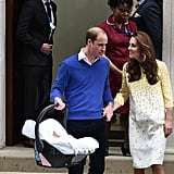 In 2015, Princess Charlotte was strapped in safely.