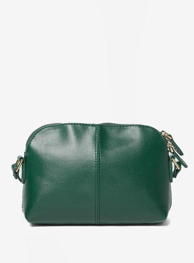Green Double Zip Cross Body Bag
