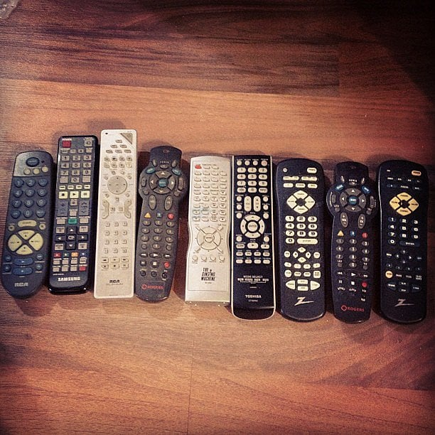 Even your coffee table needs a refresh. Wrangle your remotes in one of these fun ways.  Source: Instagram user kaithughson