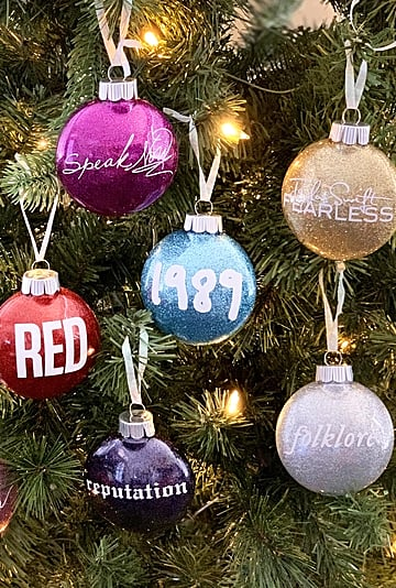 Taylor Swift Album-Inspired Christmas Ornaments | Etsy