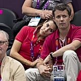 Mary leaned on Frederik when they attended the 2012 Summer Olympics in London in July 2012.