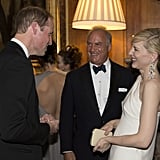 Prince William and Cate Blanchett