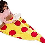 Silver Lilly Pizza Sleeping Bag Plush Fleece Giant Pizza Slice Blanket