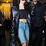 Kendall Jenner's on Board, Too, Rocking Tiny Sunglasses With Every Outfit
