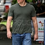 Matt looked hot in a tight t-shirt.