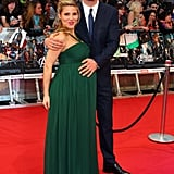 A pregnant Elsa Pataky accompanied husband Chris Hemsworth to the premiere of The Avengers in London.