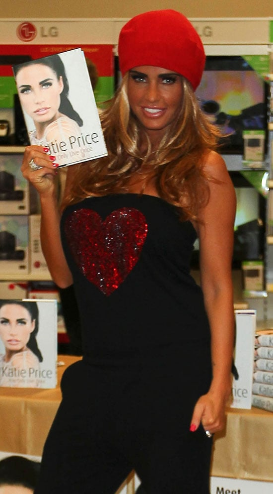 Pictures of Katie Price Wearing Heart Top at Autobiography Book Signing You Only Live Once in Derby