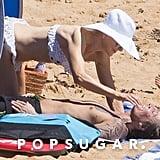 Nicole Kidman and Keith Urban Kissing on the Beach Dec. 2018