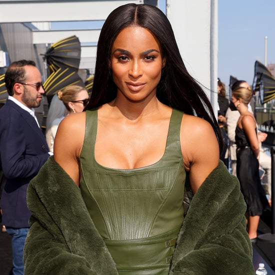 Ciara's Leather Outfit at the Dundas x Revolve NYFW Show