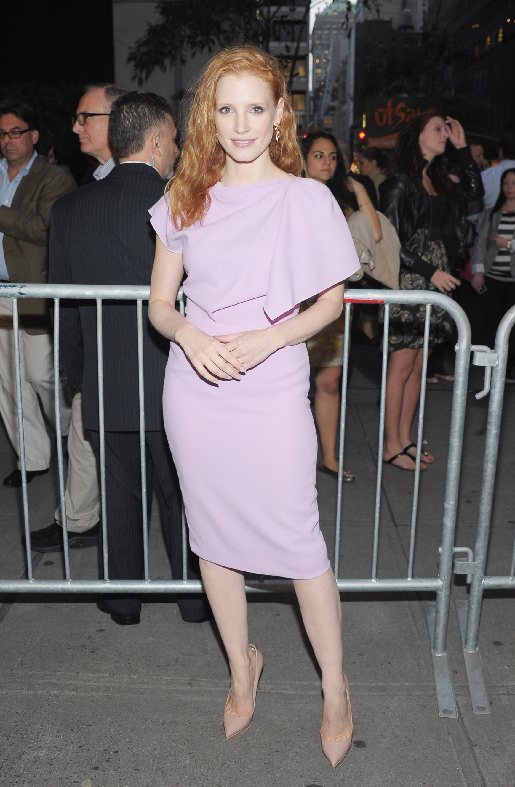 Jessica Chastain was on hand to support the play.