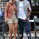Beyoncé and Jay Z stayed close while they strolled through Paris together in April 2011.