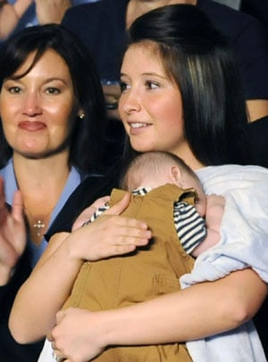 Photo of Sarah and Bristol Palin, Who Recently Announced That Bristol Is Five Months Pregnant