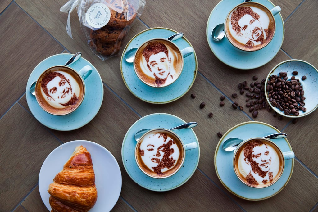 Tub of Butter Dubai's Celebrity-Inspired Coffee Stencils