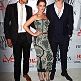 Kristen Stewart, Rupert Sanders, and Chris Hemsworth posed at a Snow White and the Huntsman screening in Sydney.