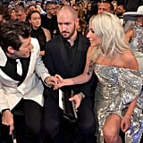 Pictured: Mark Ronson, Bobby Campbell, and Lady Gaga