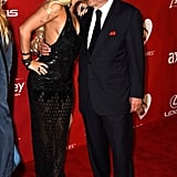 Lady Gaga gave Tony Bennett a kiss at the MusiCares event.