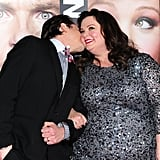 Melissa got a sweet kiss on the cheek at the 2013 premiere of Identity Thief in LA.