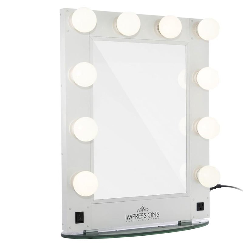 Impressions Hollywood Glamour Vanity Mirror With Led Bulbs Light