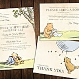 Classic Pooh Baby Shower Invitations