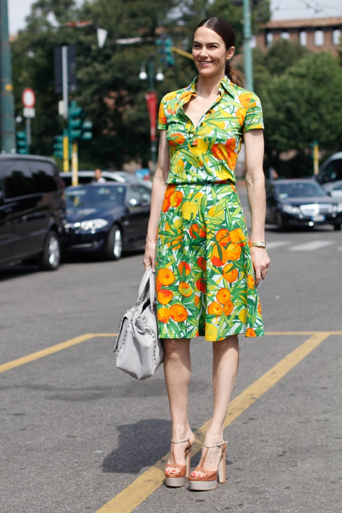 Charm the trousers off, well, whoever you happen to run into with a retro-inspired look like this one.