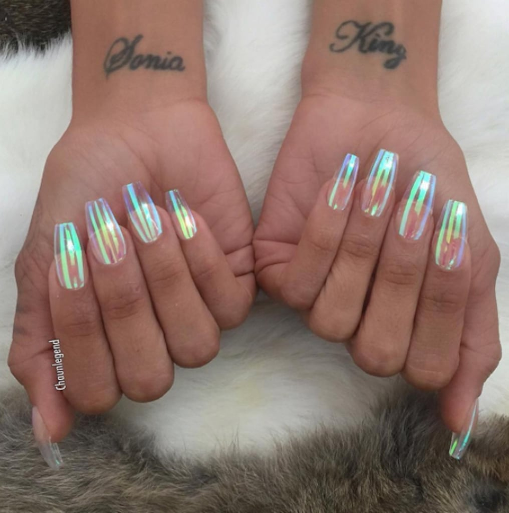 Clear Iridescent Nail Trend | POPSUGAR Beauty
