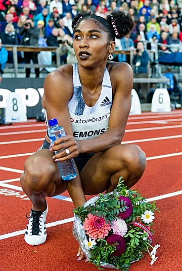 Olympic Runner Christina Clemons's Hair and Makeup Looks