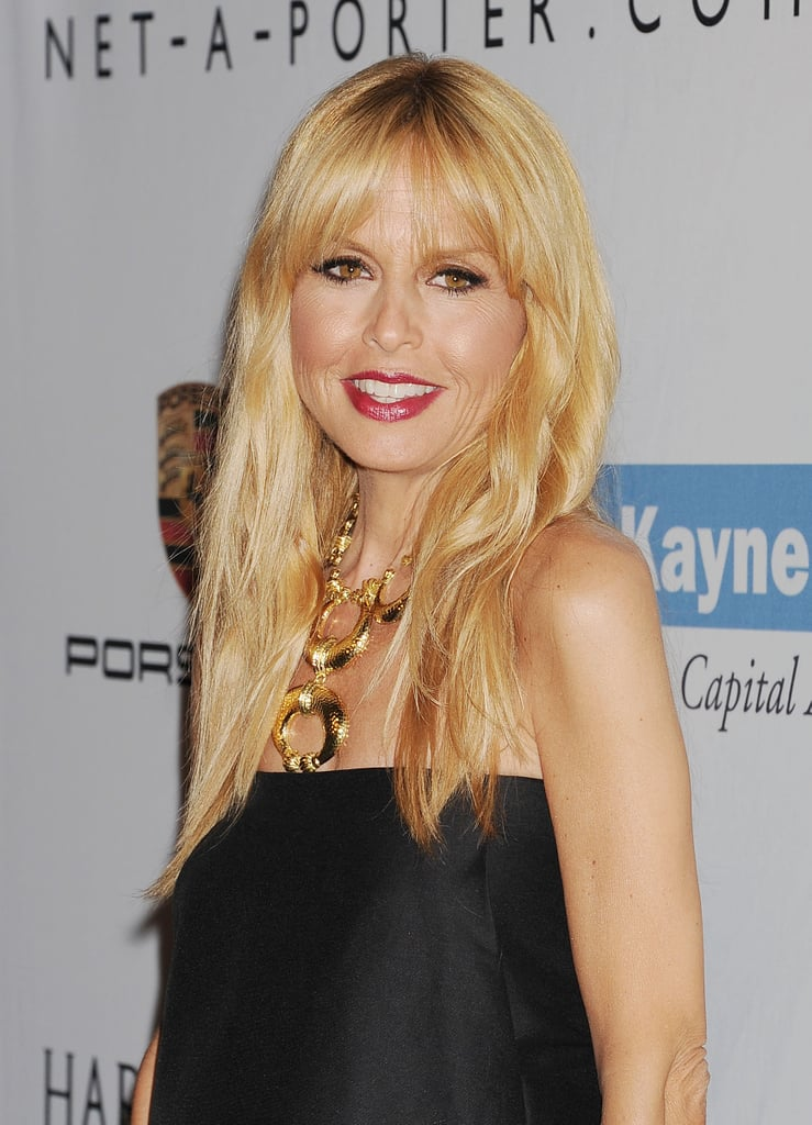Mom-to-be Rachel Zoe showed off her boho waves and red lipstick at the second annual Baby2Baby Gala.