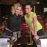 Lea hit up a SoulCycle event with Hilary Duff.