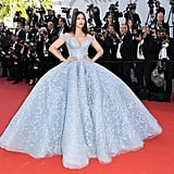 """I have to give it to my girl Aishwarya with this baby blue Michael Cinco gown, and not just because she's my favorite Bollywood actress. Everything from its color down to the gown's full skirt reminded me of Cinderella."" — NR"