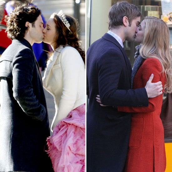 Leighton, Penn, Ella, and Chace Bring a Double Dose of PDA to the Gossip Girl Set