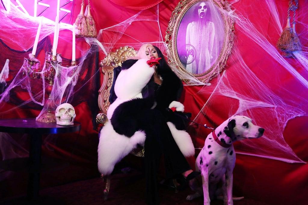 Image result for cardi b as cruella de vil halloween costume
