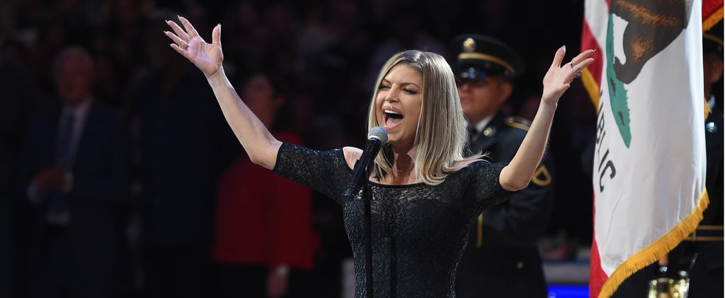 Fergie Singing National Anthem at NBA All-Star Game 2018