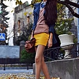 Sometimes all it takes is a great mix of seasonal hues on a few great layers. Source: Lookbook.nu